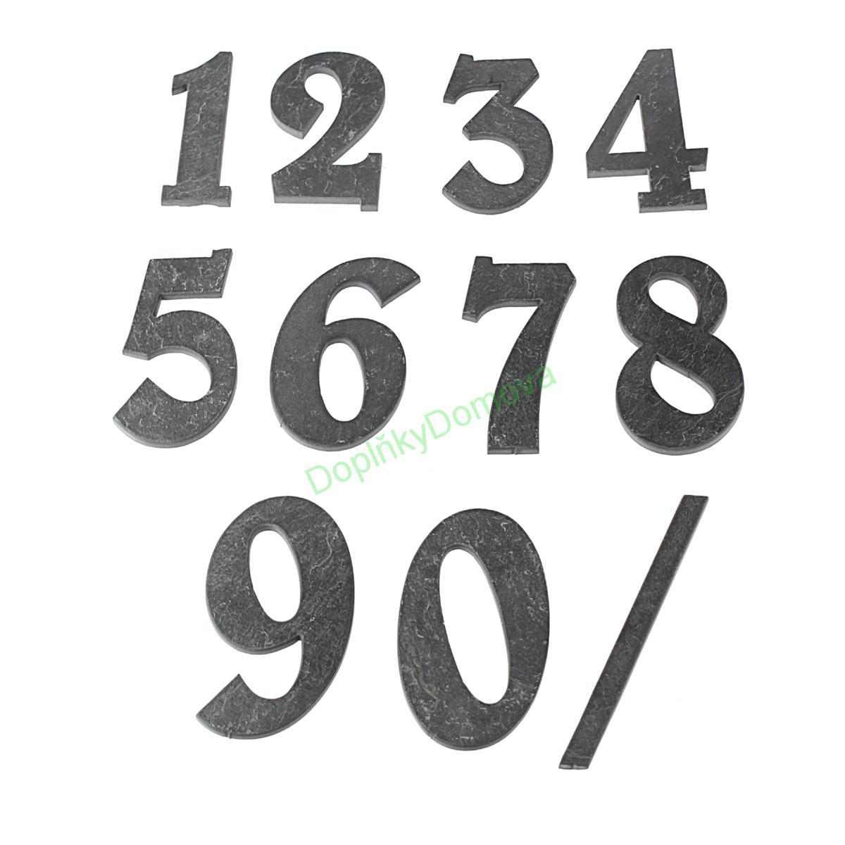 """Domovní číslo popisné Břidlice BELWE - písmeno """"b"""""""