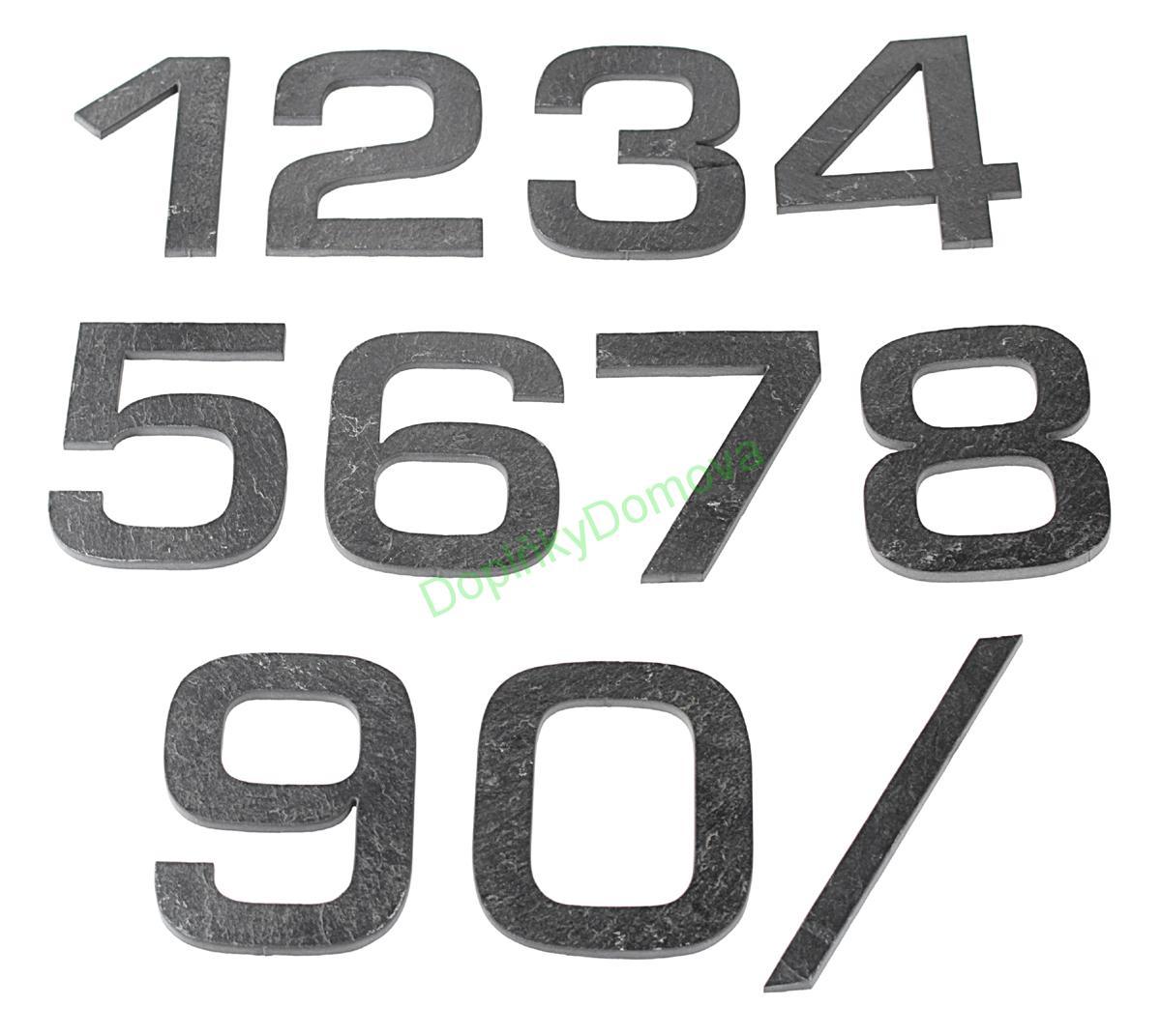 """Domovní číslo popisné Břidlice EUROMODE - písmeno """"b"""""""