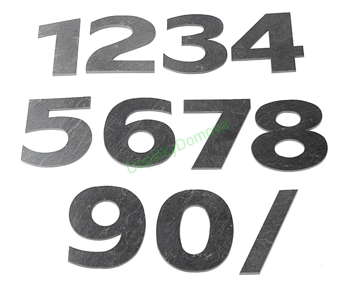 """Domovní číslo popisné Břidlice LILY - písmeno """"b"""""""