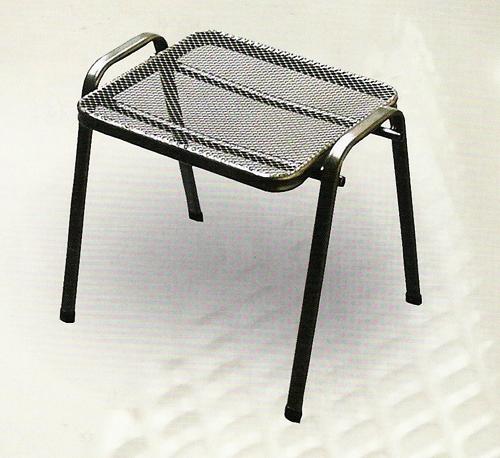 Zahradní nábytek - kovový taburet
