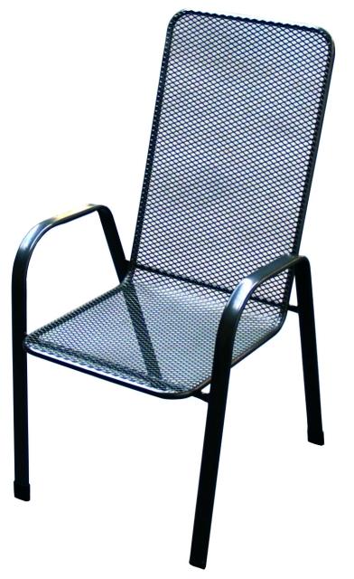 Zahradní nábytek - křeslo SÁGA vysoká kovová židle