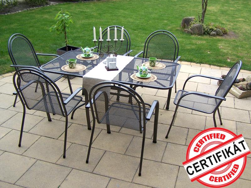 Zahradní kovová sestava CORINA 1+6 TAKO 160x95