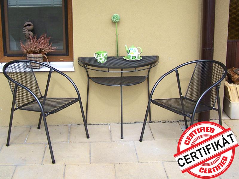 Zahradní kovová balkonová sestava IRIS I. 1+2 PŮLSTOLEK