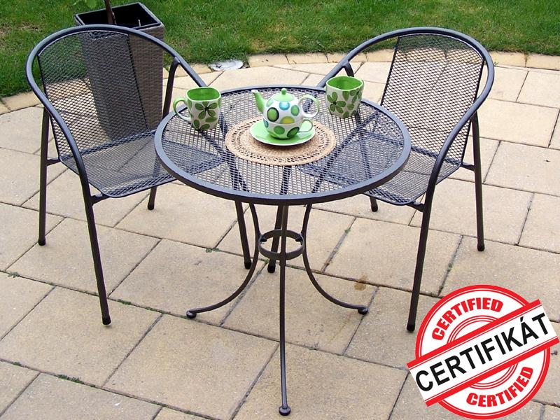 Zahradní kovová balkonová sestava IRIS 1+2 TAKO 70