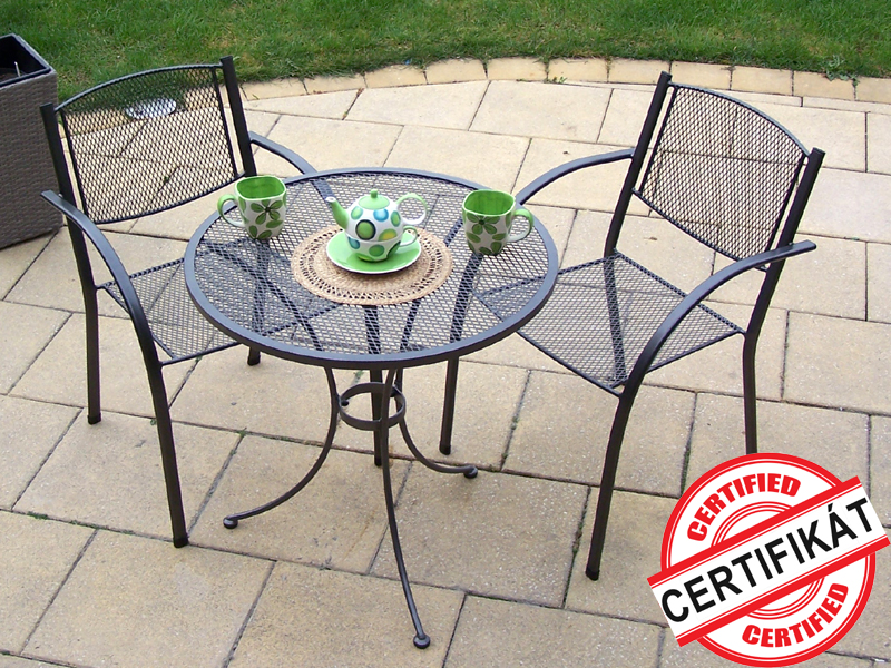 Zahradní kovová balkonová sestava MILANO 1+2 TAKO 70