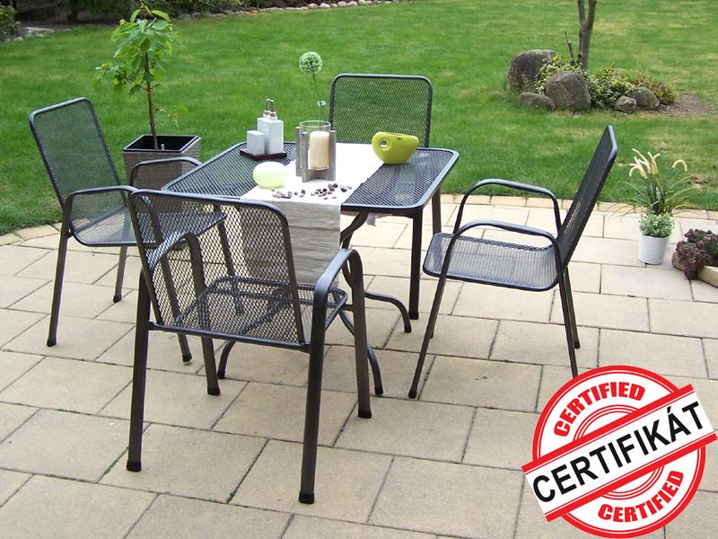 Zahradní kovová sestava SÁGA II. 1+4 TAKO 90x90