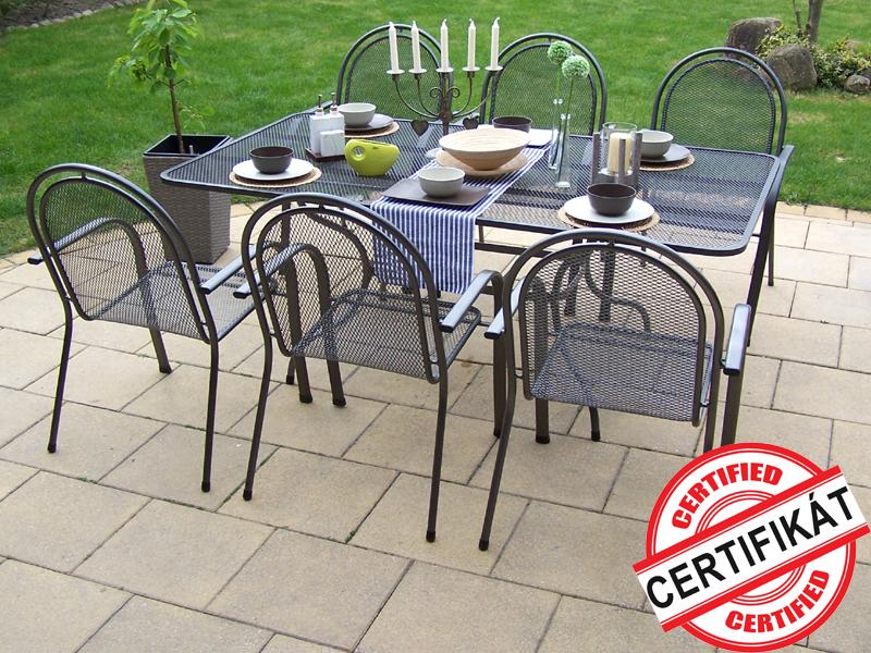 Zahradní kovová sestava CORINA 1+6 TAKO 190x105