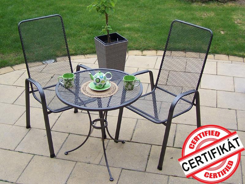 Zahradní kovová balkonová sestava SÁGA I. 1+2 TAKO 70