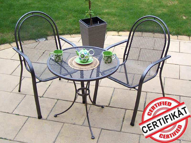 Zahradní kovová balkonová sestava CORINA 1+2 TAKO 70