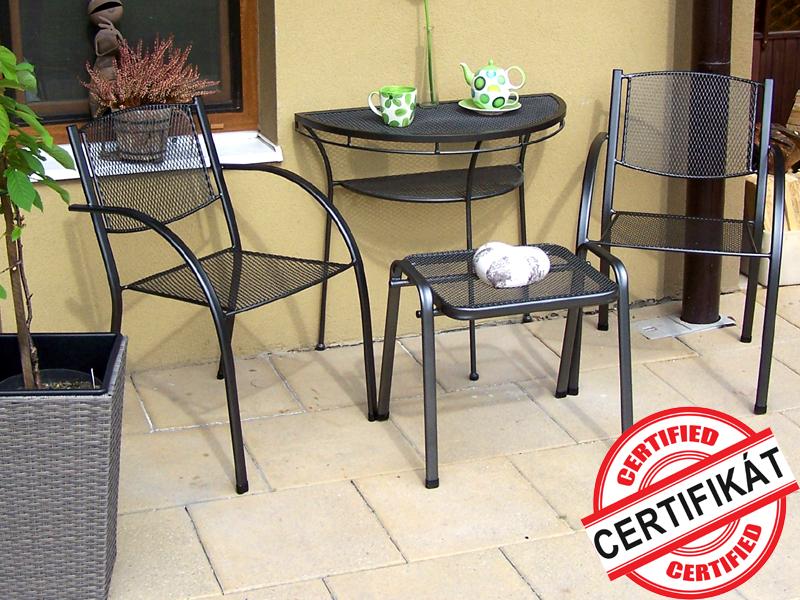 Zahradní kovová balkonová sestava MILANO II. 1+2 PŮLSTOLEK