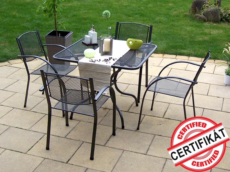 Zahradní kovová sestava MILANO 1+4 TAKO 90x90