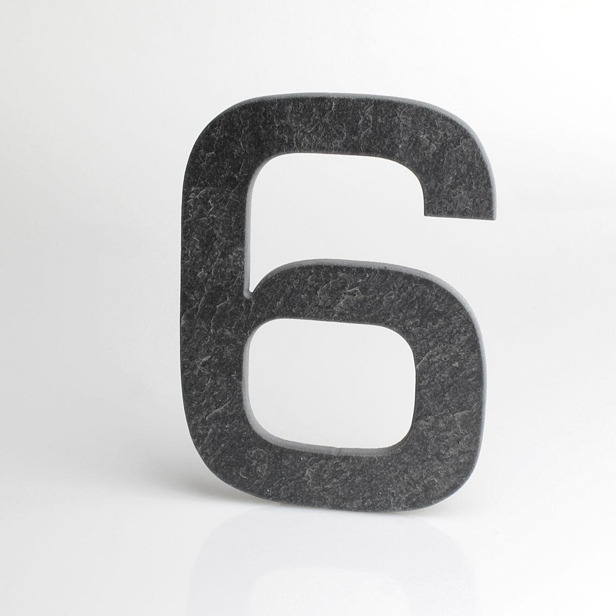 Domovní číslo popisné Břidlice EUROMODE - č. 6