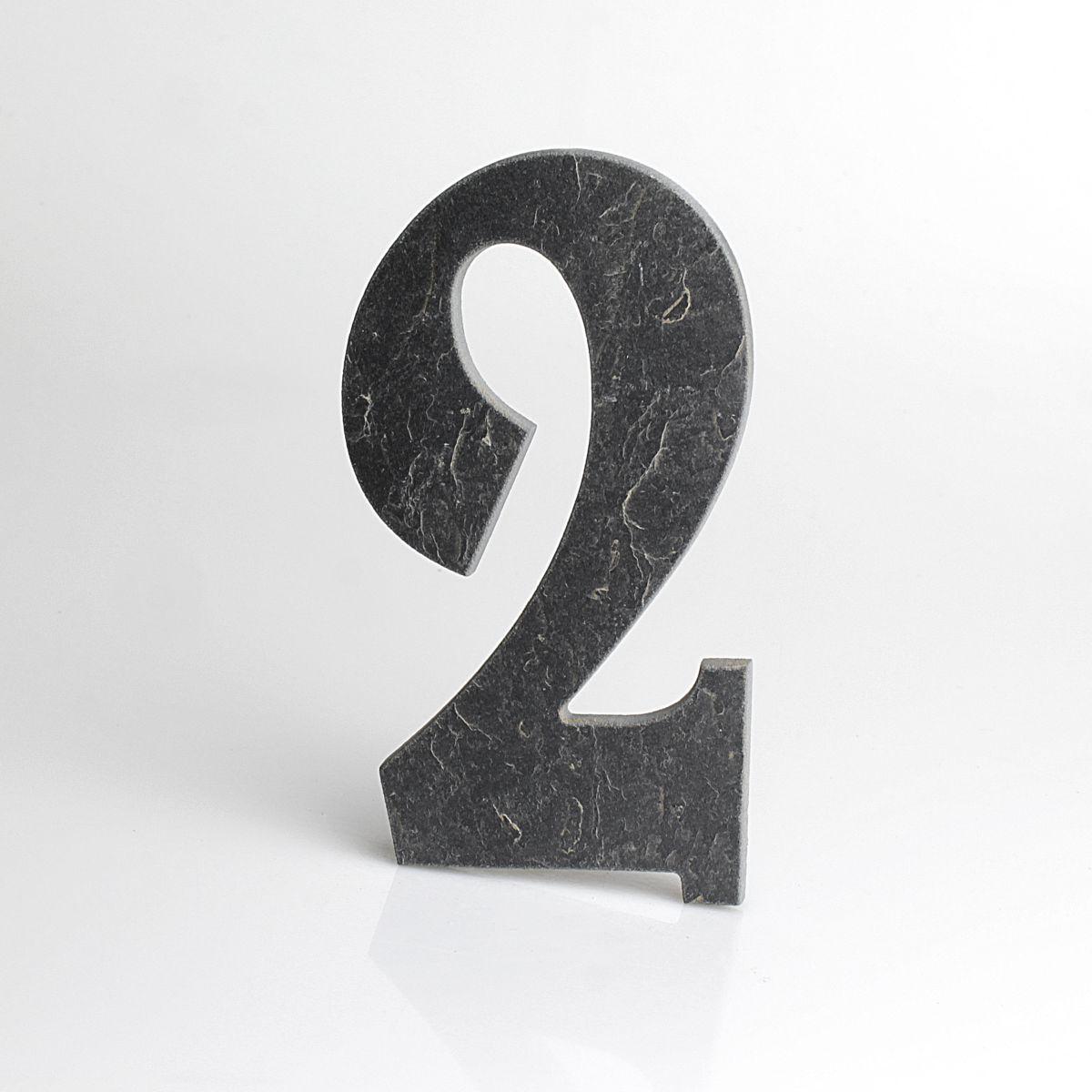 Domovní číslo popisné Břidlice BELWE - č. 2