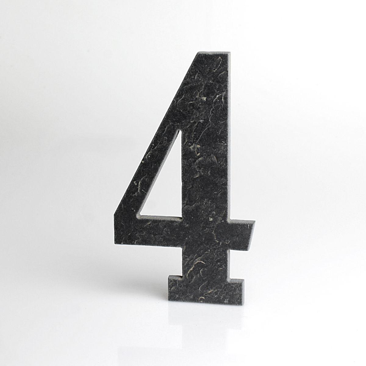 Domovní číslo popisné Břidlice BELWE - č. 4
