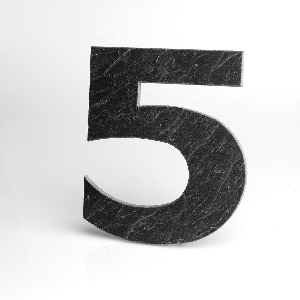 Domovní číslo popisné Břidlice LILY - č. 5