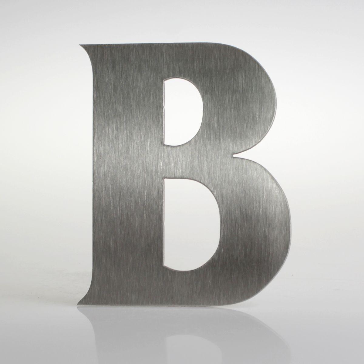 """Domovní číslo popisné Nerez FRANCE - písmeno """"B"""""""
