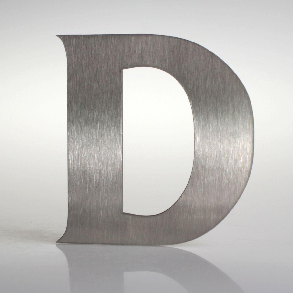 """Domovní číslo popisné Nerez FRANCE - písmeno """"D"""""""