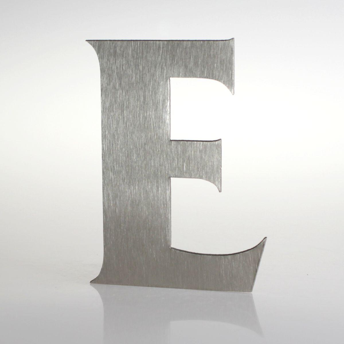 """Domovní číslo popisné Nerez FRANCE - písmeno """"E"""""""