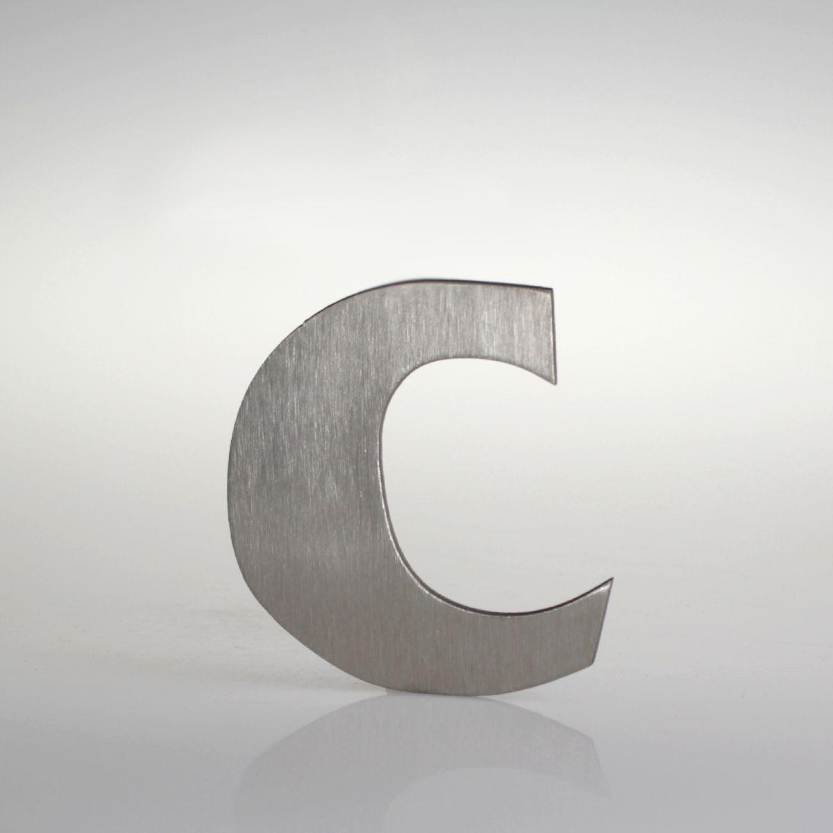 """Domovní číslo popisné Nerez FRANCE - písmeno """"c"""""""