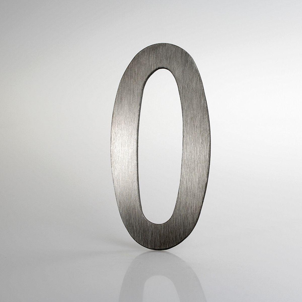 """Domovní číslo popisné Nerez LUCIDA - číslo """"0"""""""