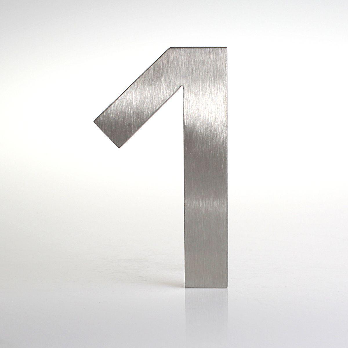 Domovní číslo popisné Nerez EUROMODE - č. 1
