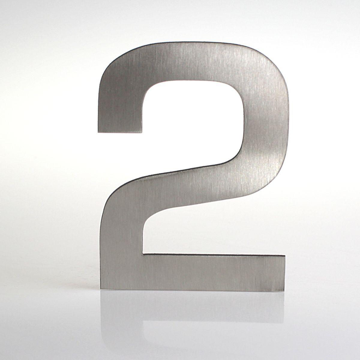 Domovní číslo popisné Nerez EUROMODE - č. 2