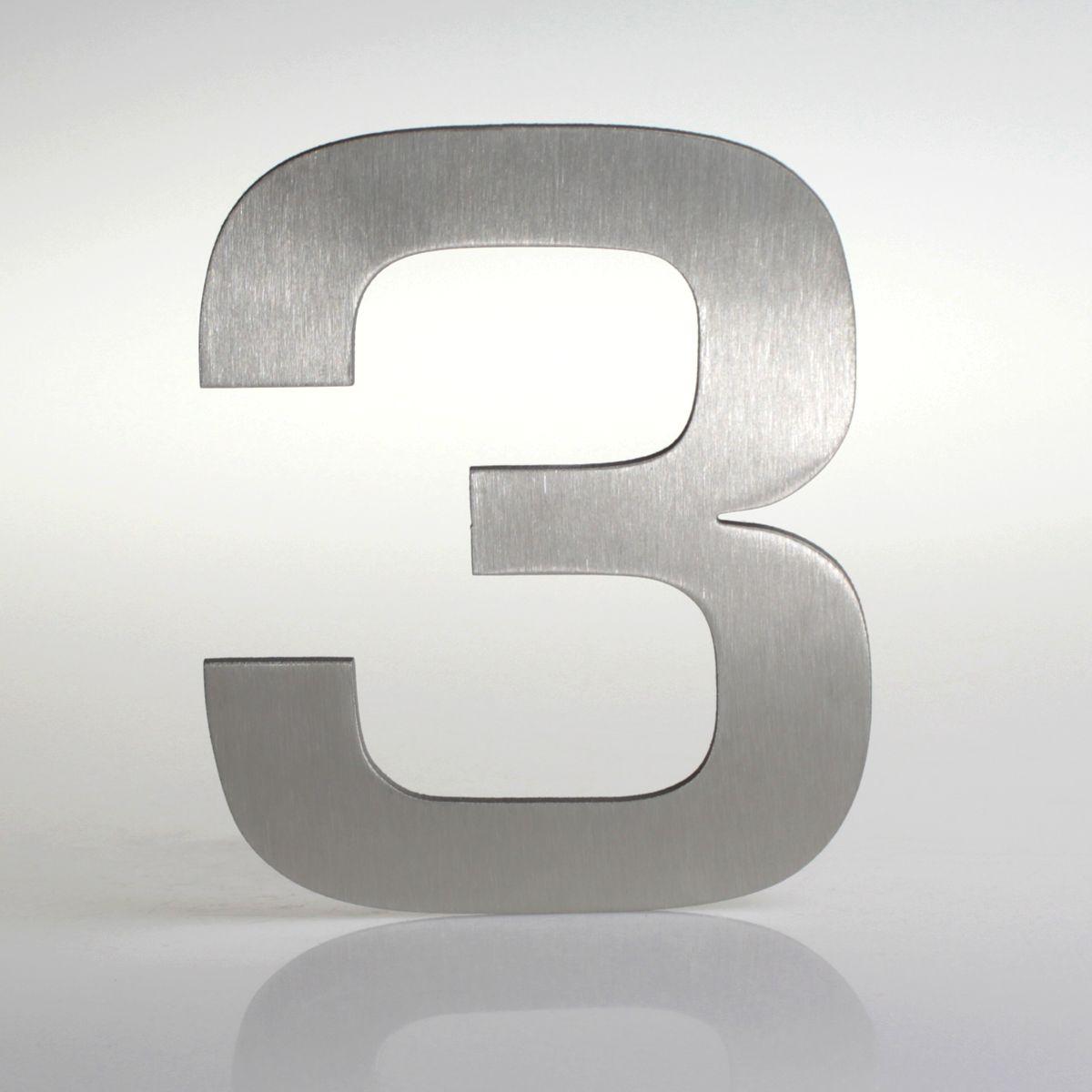 Domovní číslo popisné Nerez EUROMODE - č. 3