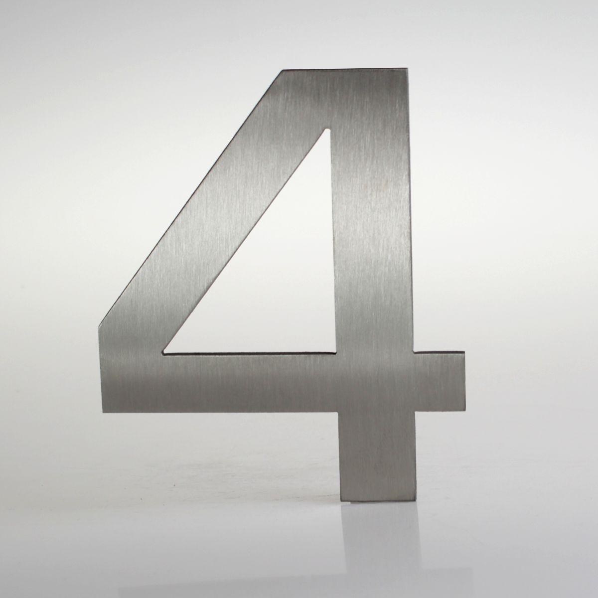 Domovní číslo popisné Nerez EUROMODE - č. 4