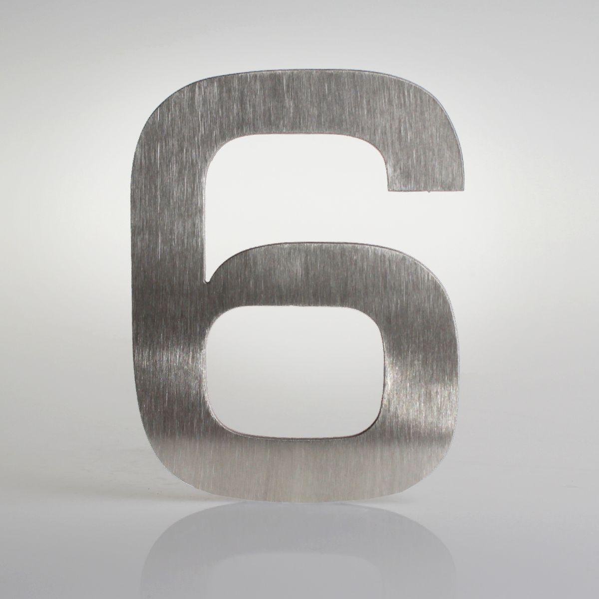 Domovní číslo popisné Nerez EUROMODE - č. 6