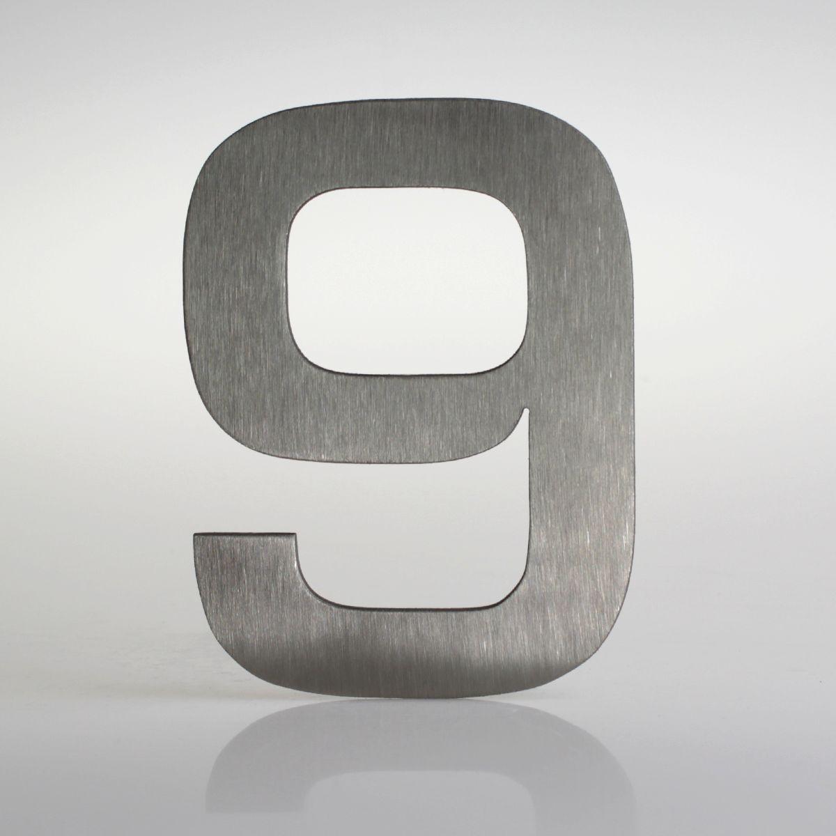 Domovní číslo popisné Nerez EUROMODE - č. 9