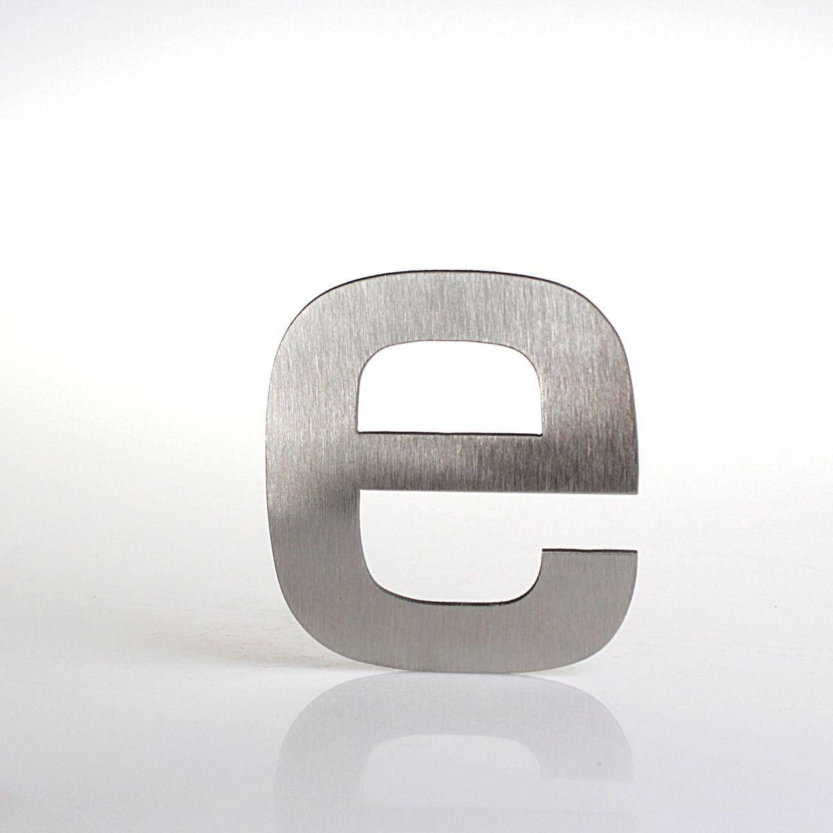"""Domovní číslo popisné Nerez EUROMODE písmeno """"e"""""""