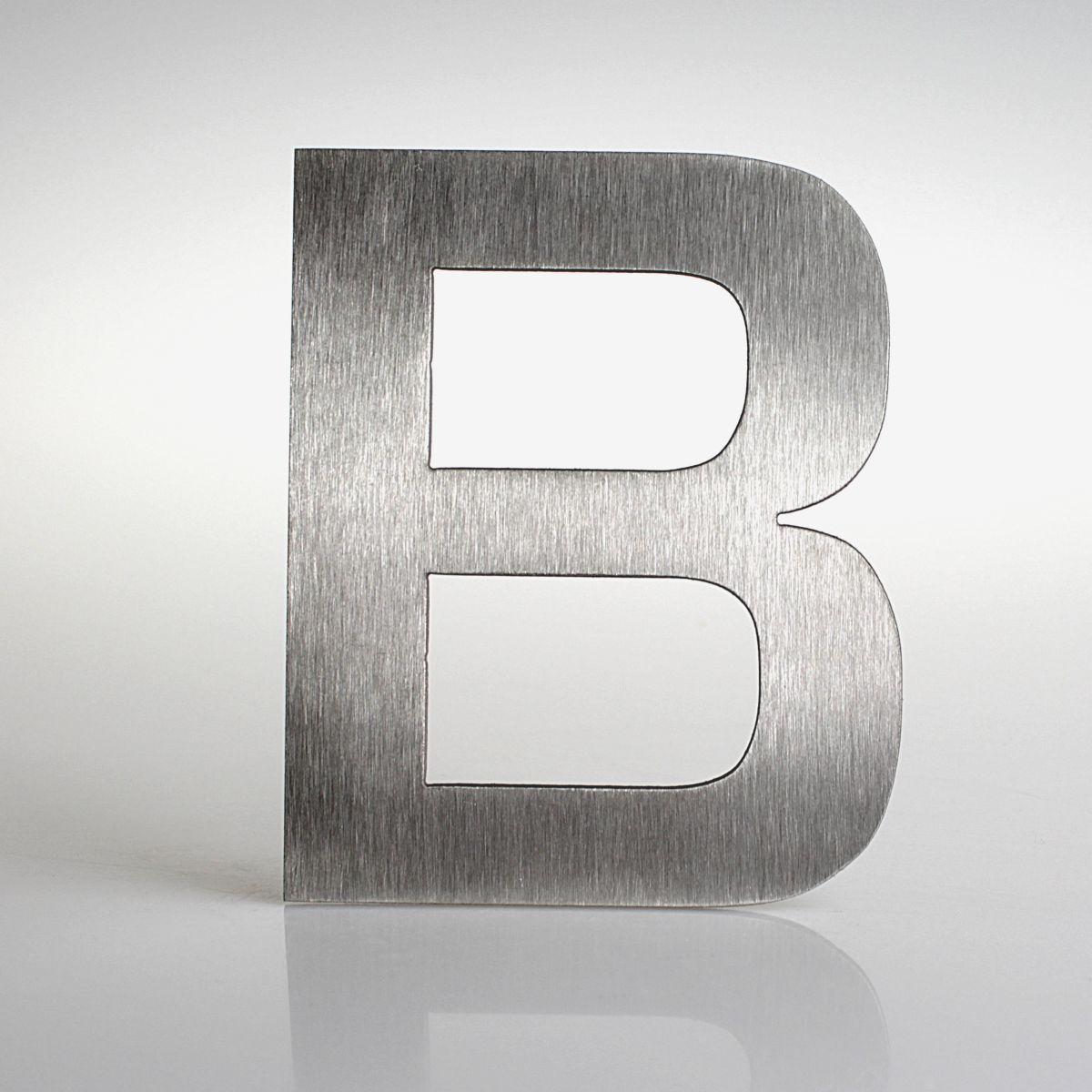 """Domovní číslo popisné Nerez EUROMODE písmeno """"B"""""""