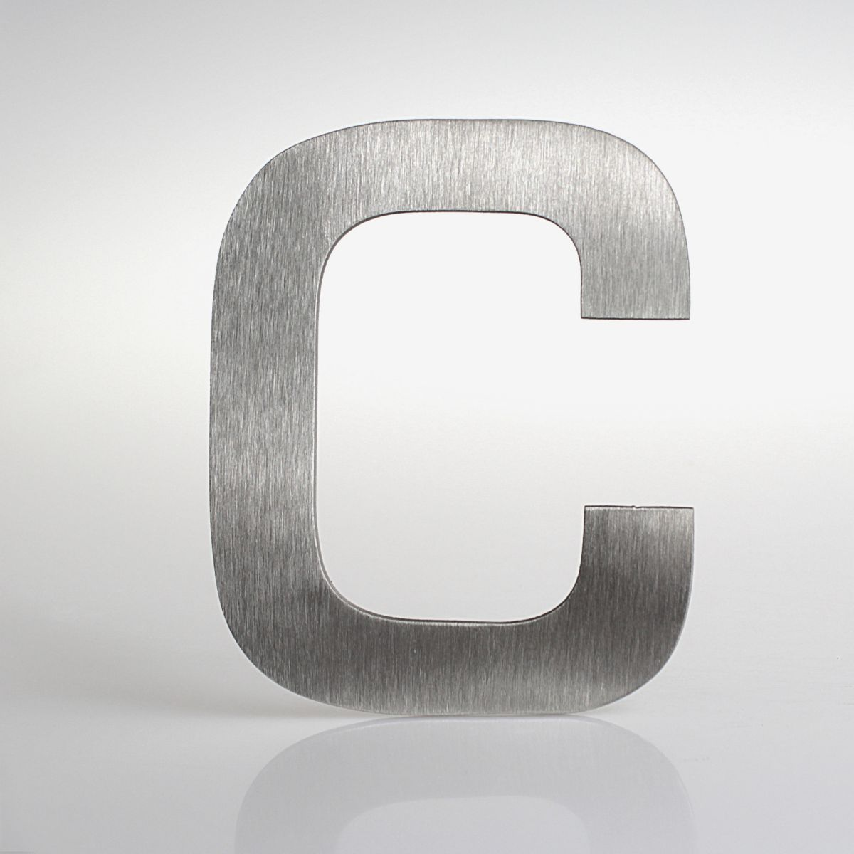 """Domovní číslo popisné Nerez EUROMODE písmeno """"C"""""""