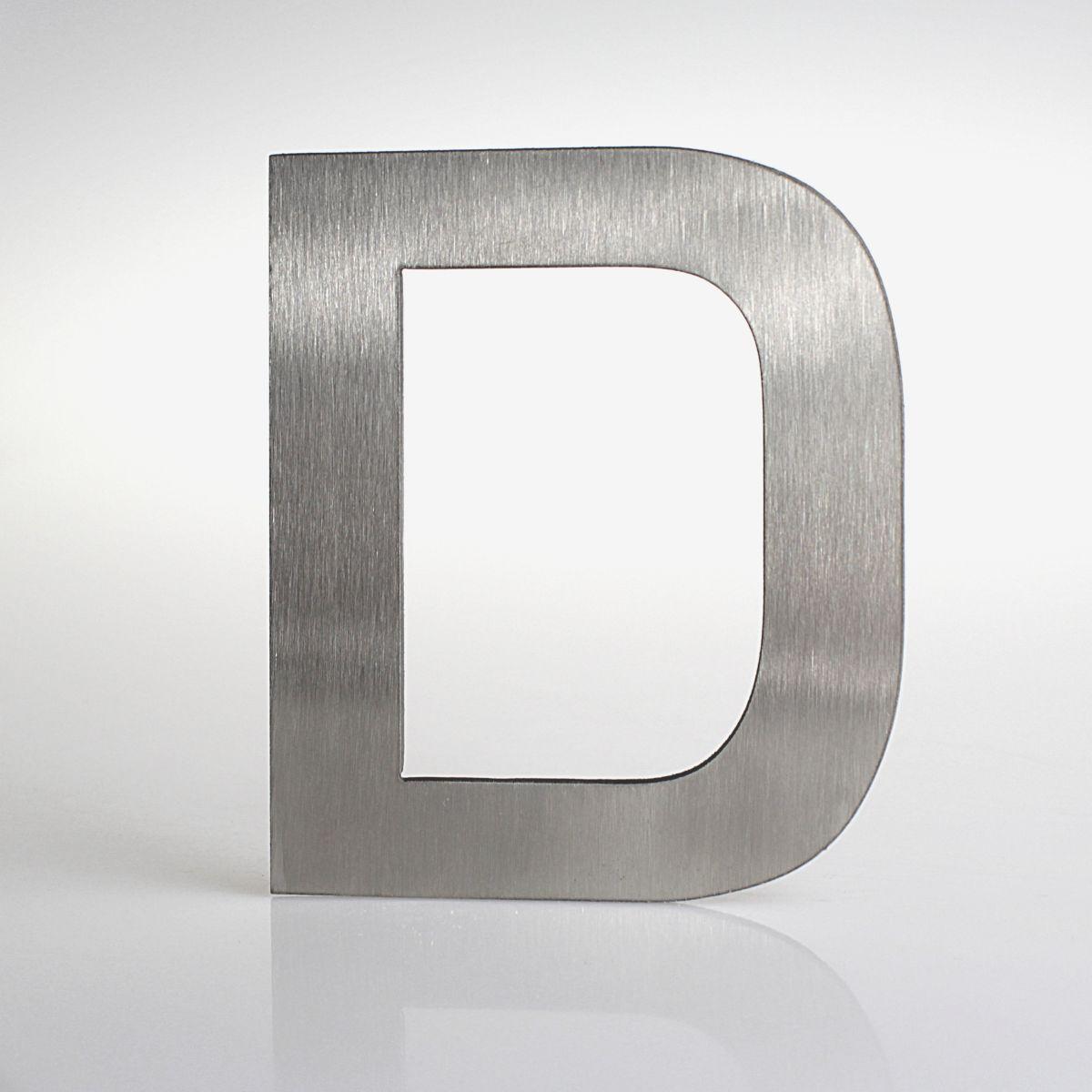 """Domovní číslo popisné Nerez EUROMODE písmeno """"D"""""""