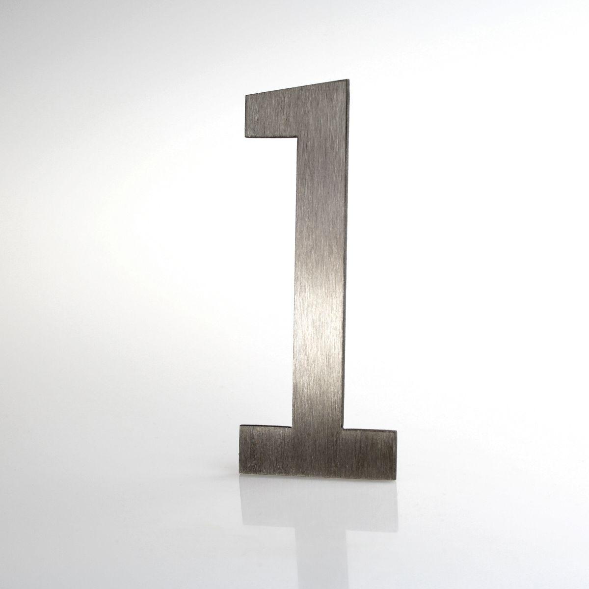 """Domovní číslo popisné Nerez LUCIDA - číslo """"1"""""""