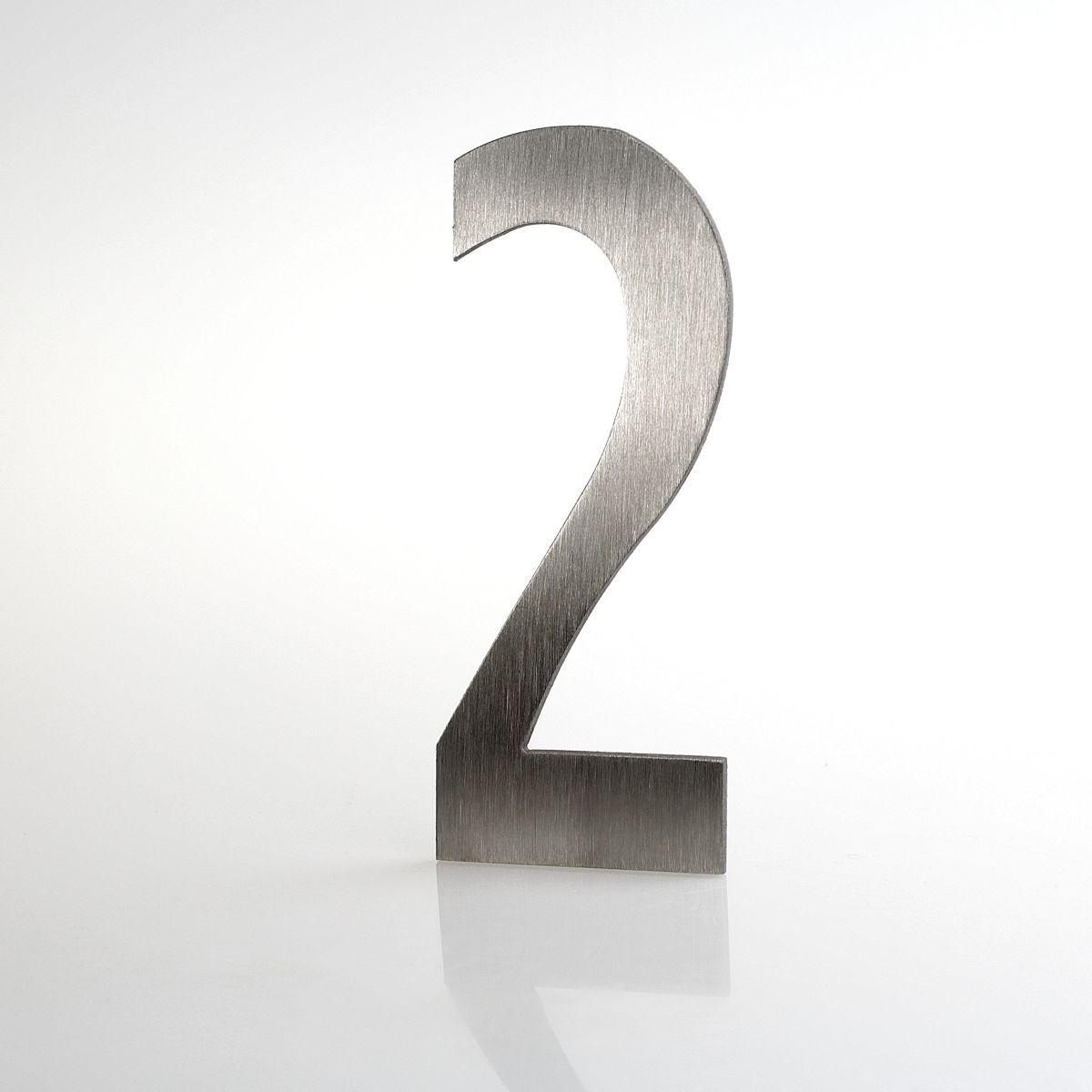 """Domovní číslo popisné Nerez LUCIDA - číslo """"2"""""""