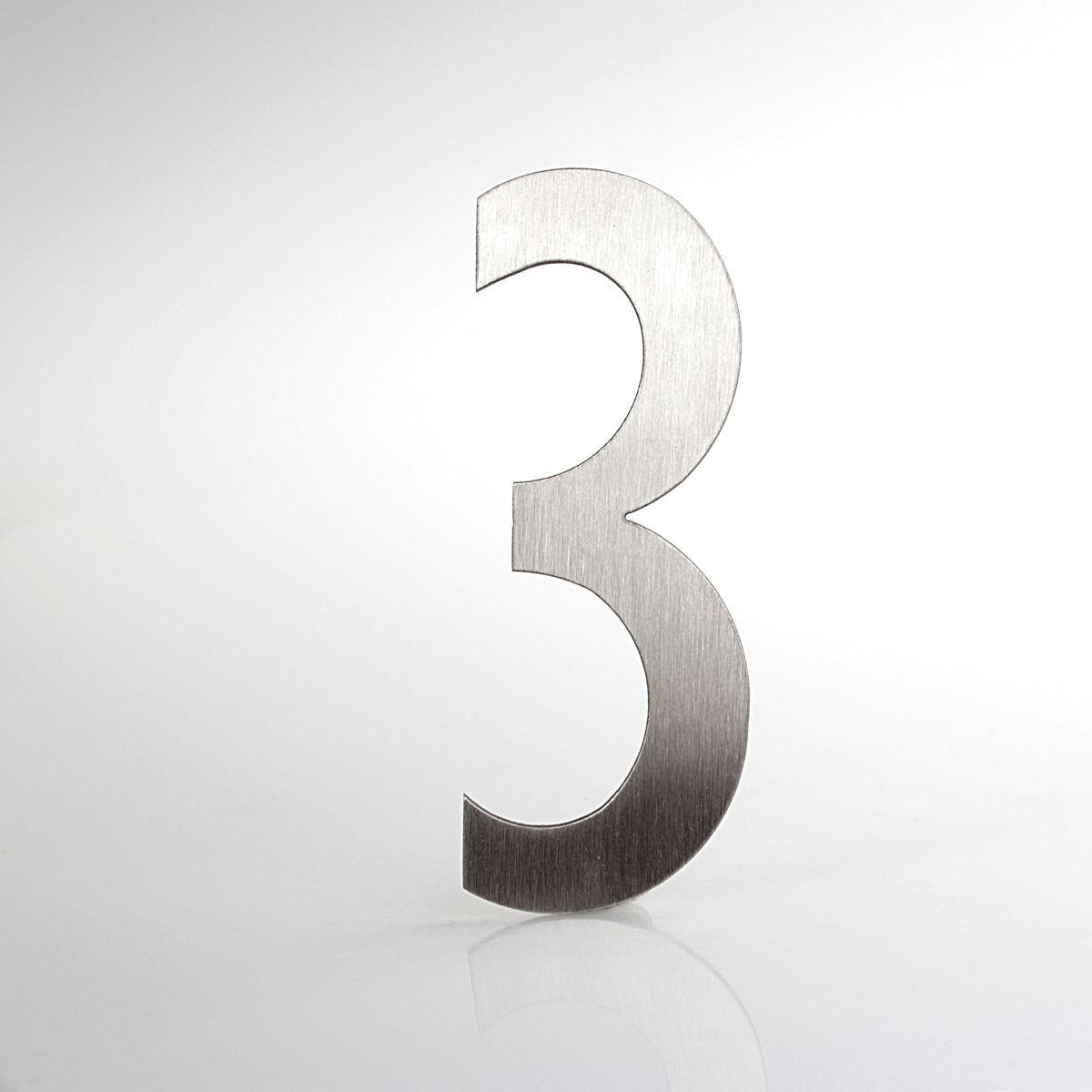"""Domovní číslo popisné Nerez LUCIDA - číslo """"3"""""""