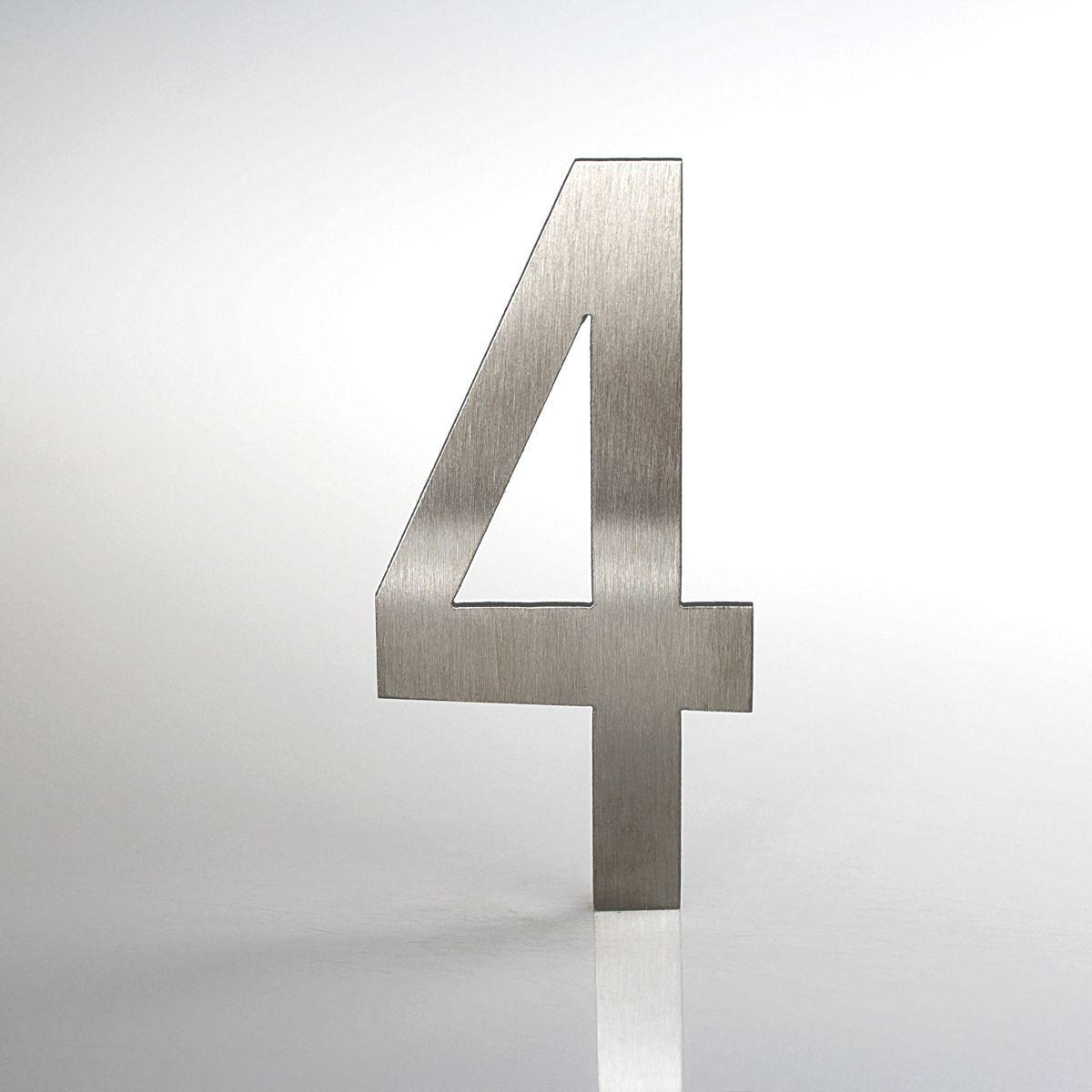 """Domovní číslo popisné Nerez LUCIDA - číslo """"4"""""""