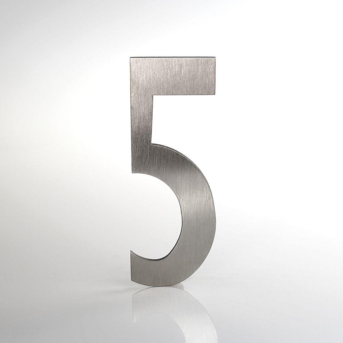 """Domovní číslo popisné Nerez LUCIDA - číslo """"5"""""""
