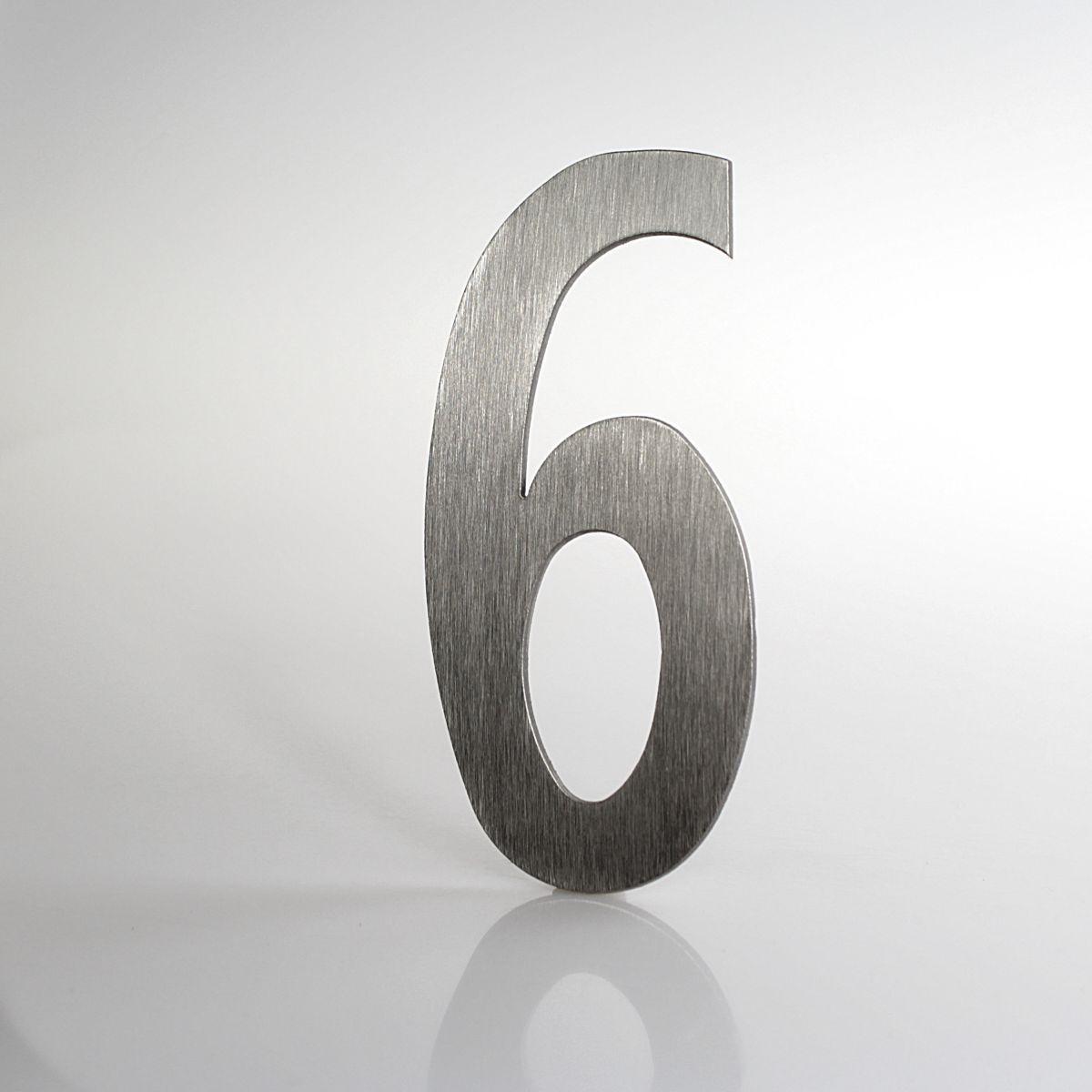 """Domovní číslo popisné Nerez LUCIDA - číslo """"6"""""""