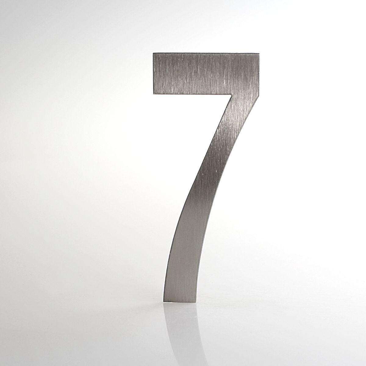 """Domovní číslo popisné Nerez LUCIDA - číslo """"7"""""""