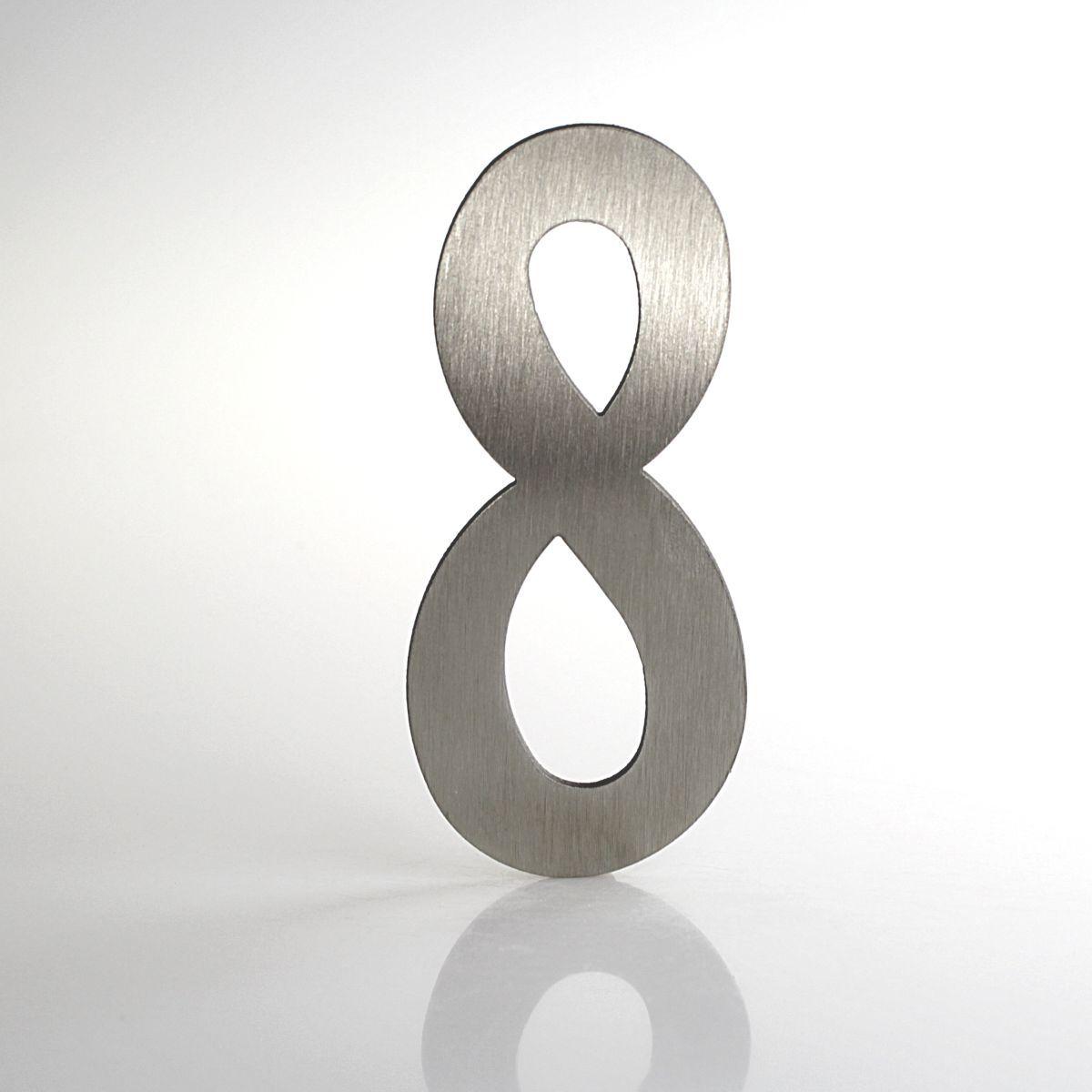 """Domovní číslo popisné Nerez LUCIDA - číslo """"8"""""""