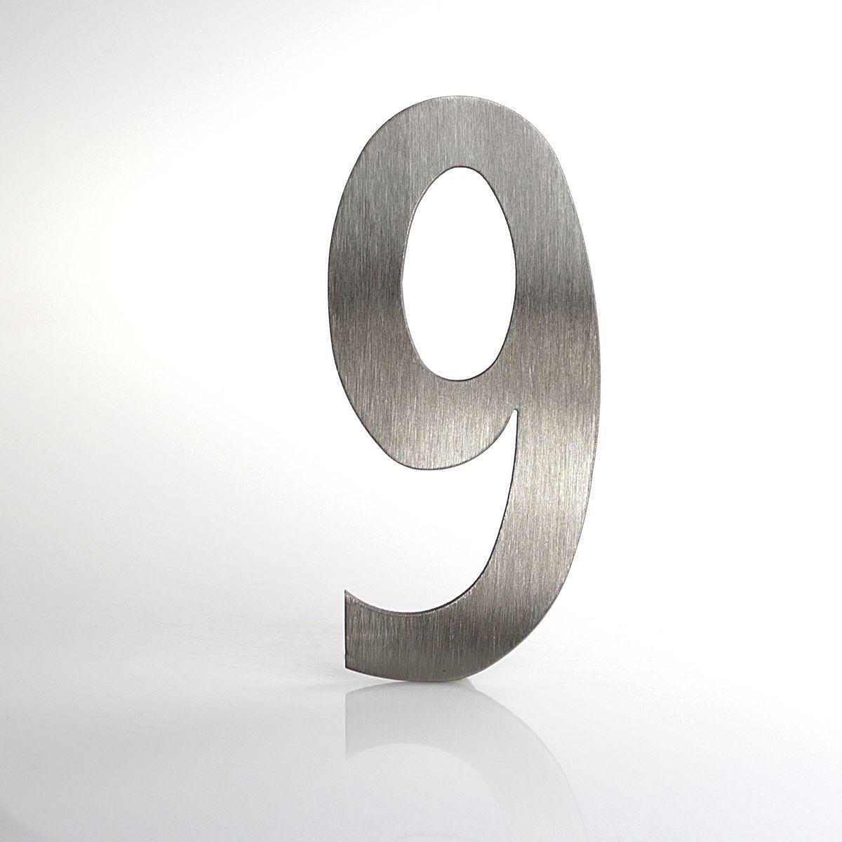 """Domovní číslo popisné Nerez LUCIDA - číslo """"9"""""""