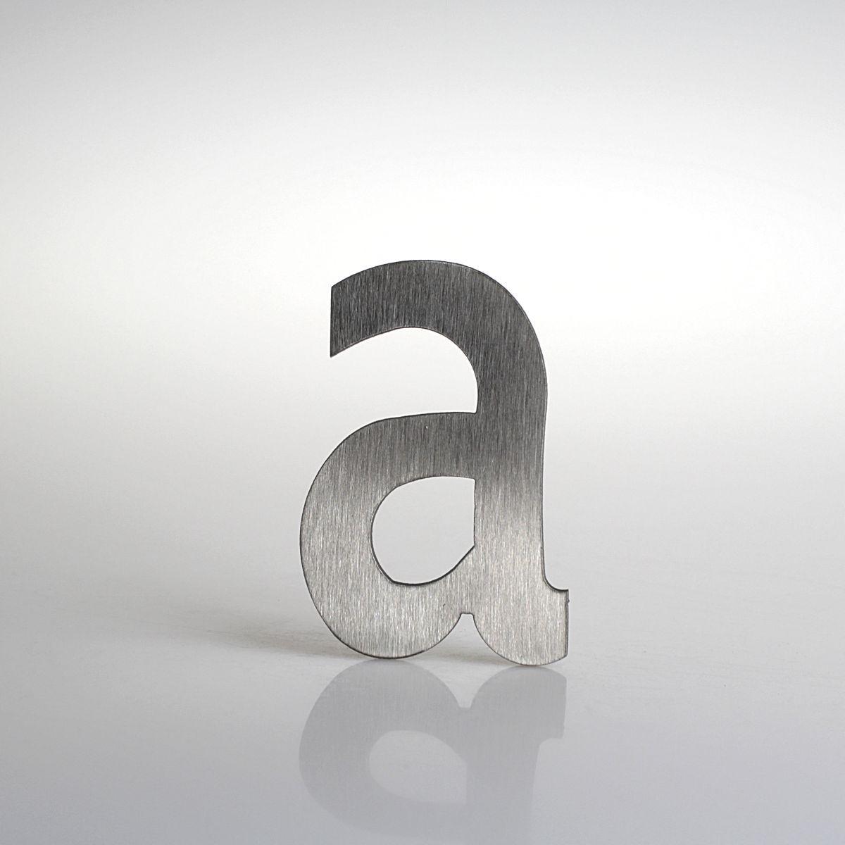 """Domovní číslo popisné Nerez LUCIDA - písmeno """"a"""""""