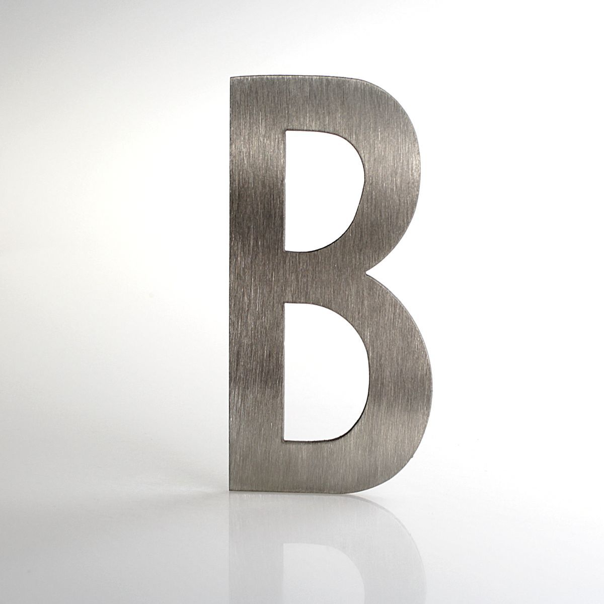 """Domovní číslo popisné Nerez LUCIDA - písmeno """"B"""""""