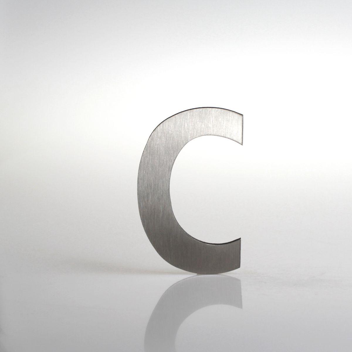 """Domovní číslo popisné Nerez LUCIDA - písmeno """"c"""""""