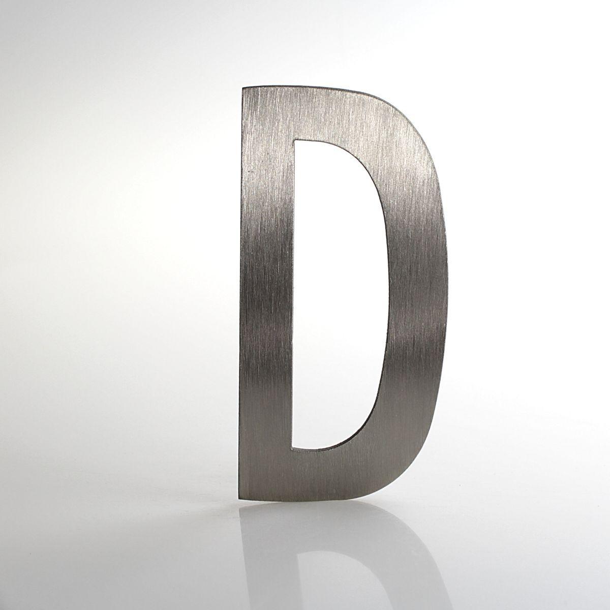 """Domovní číslo popisné Nerez LUCIDA - písmeno """"D"""""""