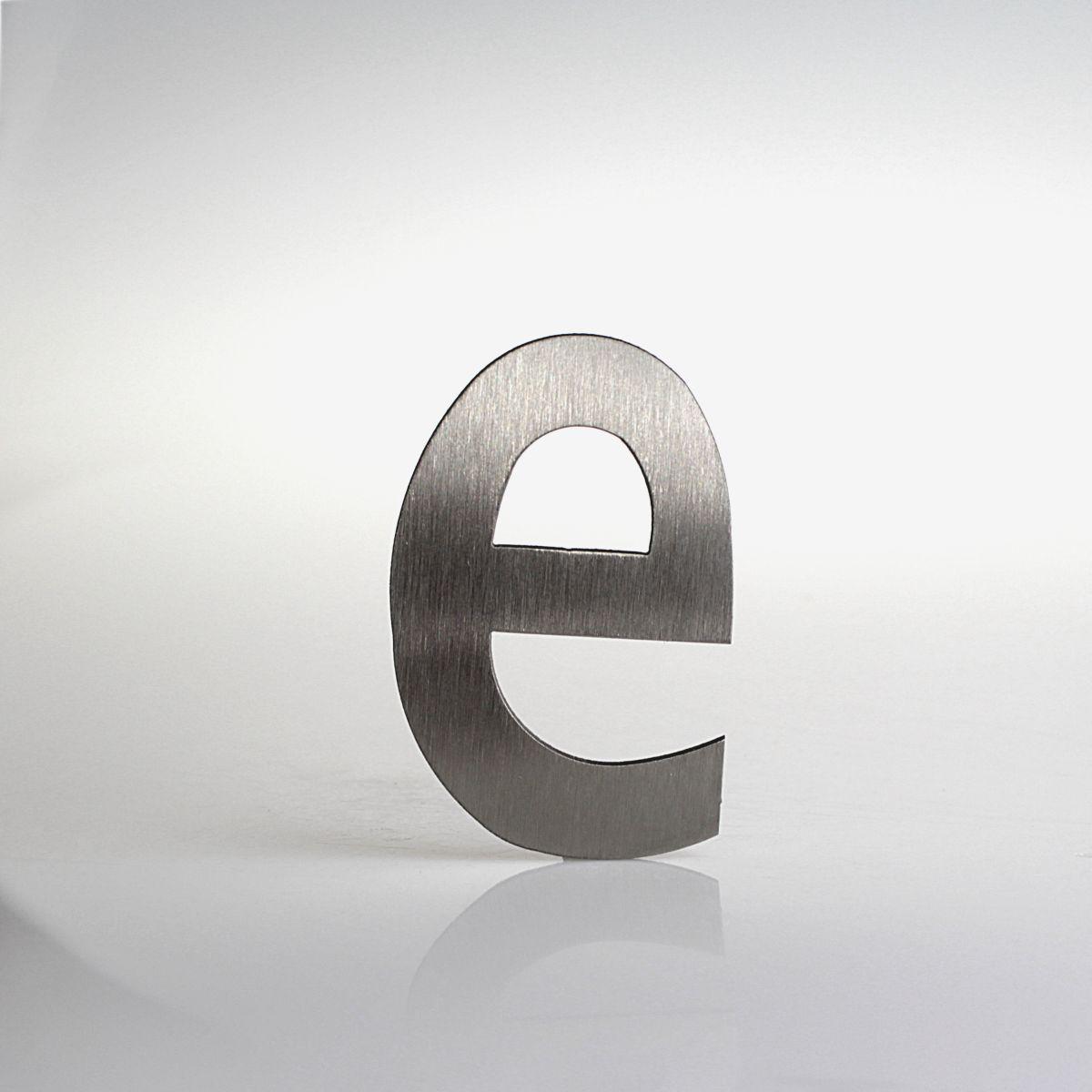 """Domovní číslo popisné Nerez LUCIDA - písmeno """"e"""""""