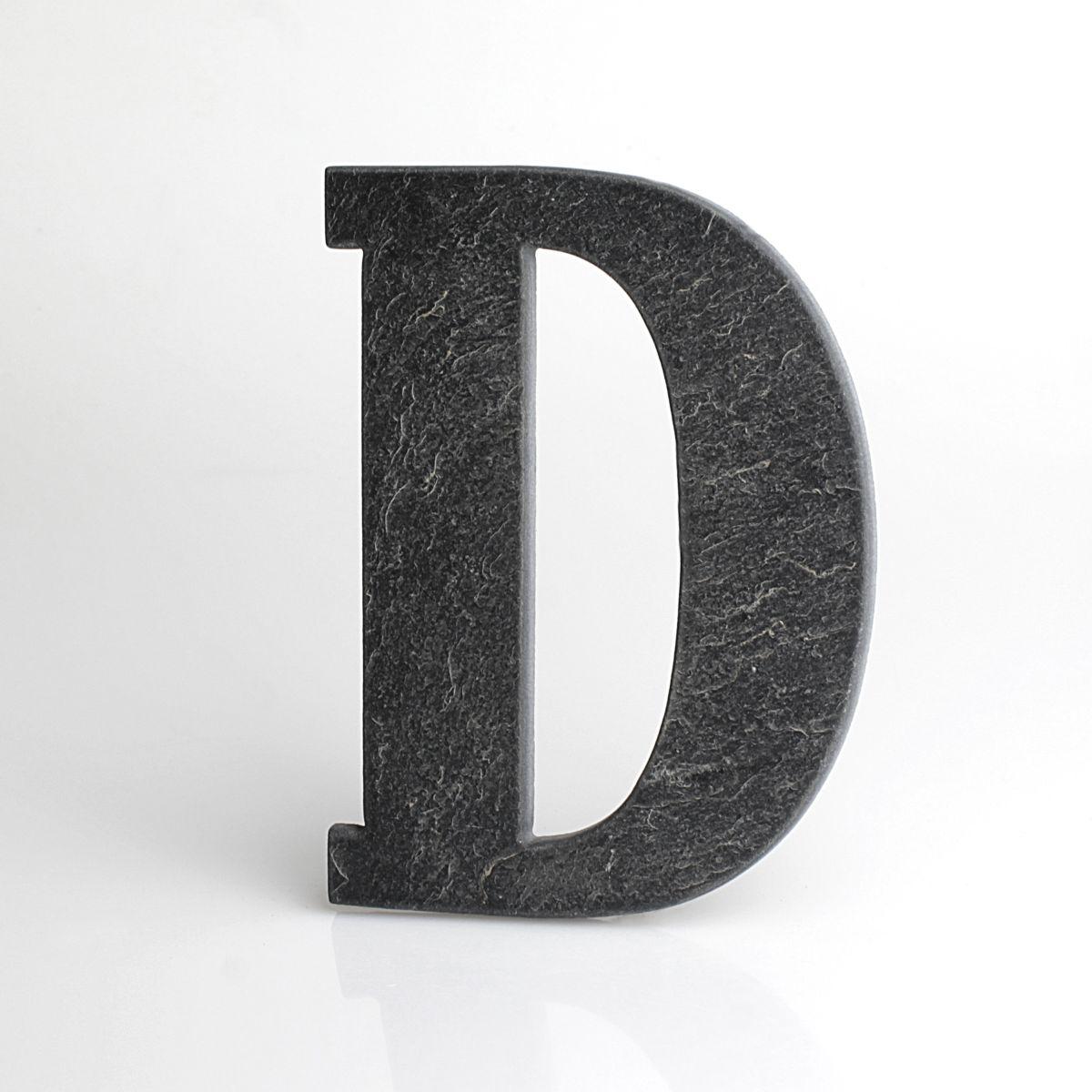 """Domovní číslo popisné Břidlice BELWE - písmeno """"D"""""""