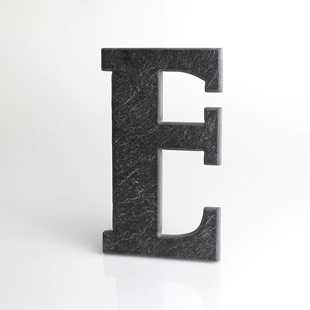 """Domovní číslo popisné Břidlice BELWE - písmeno """"E"""""""